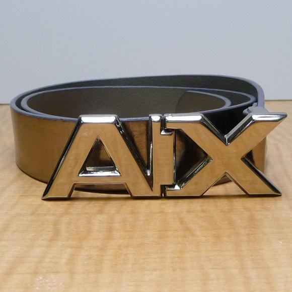 64dcfc08cd8d Armani Exchange Accessories   Leather Aix Large Logo Belt M   Poshmark